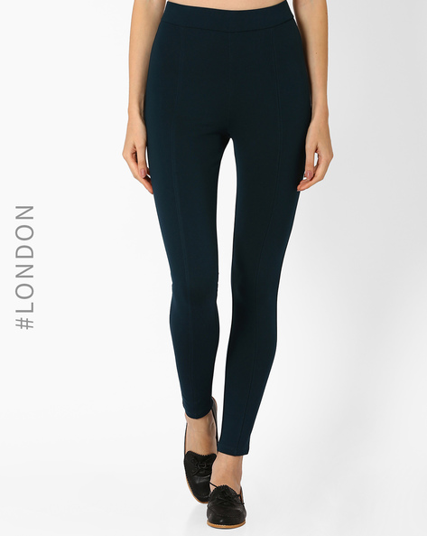 Panelled High-Rise Treggings By Marks & Spencer ( Seagreen )