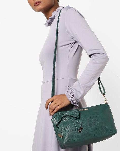 Alexandria Handbag With Bow By CAPRESE ( Green )