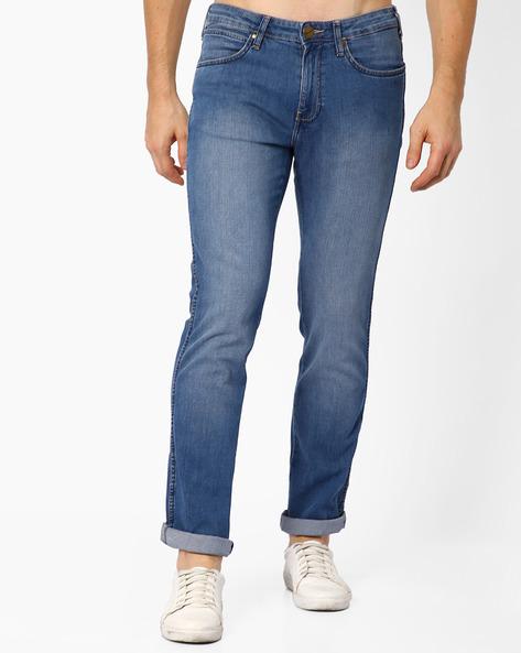 JSW-Millard Millard Lightly-Washed Slim Fit Jeans By WRANGLER ( Blue )