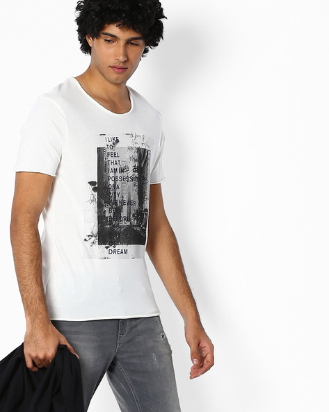 Graphic Print T-shirt By SELECTED ( Assorted )