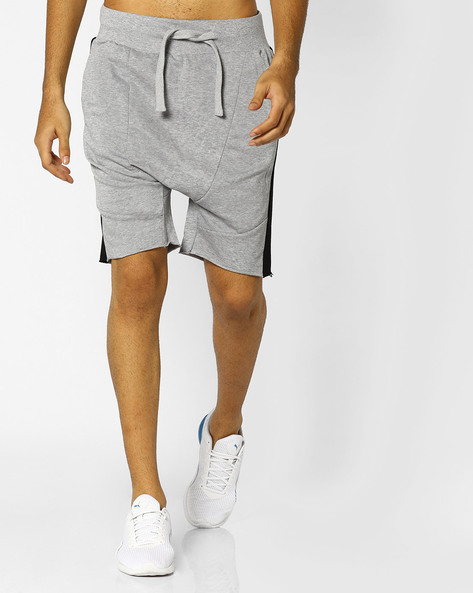 Drop-Crotch Shorts With Drawstring Waist By ADAMO LONDON ( Greymelange )
