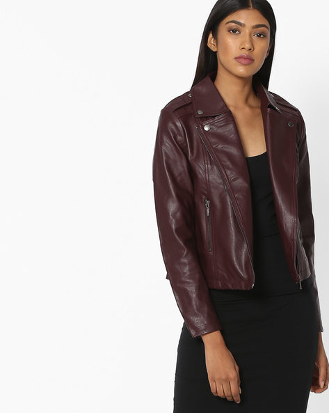Front-Zip Jacket With Notched Lapel By KRAUS ( Assorted )