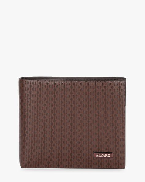 Genuine Leather Textured Bi-Fold Wallet By ALVARO CASTAGNINO ( Brown )