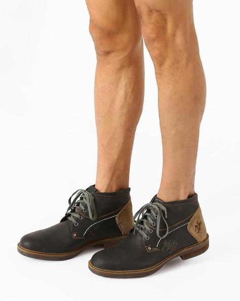 Roldrijon Leather Casual Shoes By BUCKAROO ( Black )