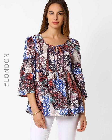 Printed Top By Marks & Spencer ( Multi )