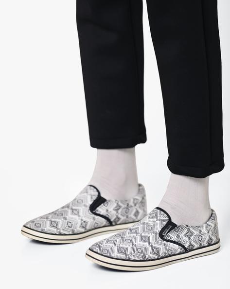 Tribal Print Slip-On Shoes By Jack & Jones ( Gray )