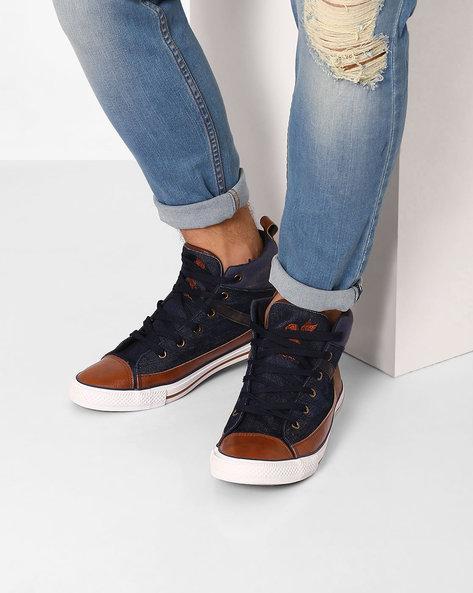 Toe-Cap Lace-Up Shoes By Spunk ( Navy )