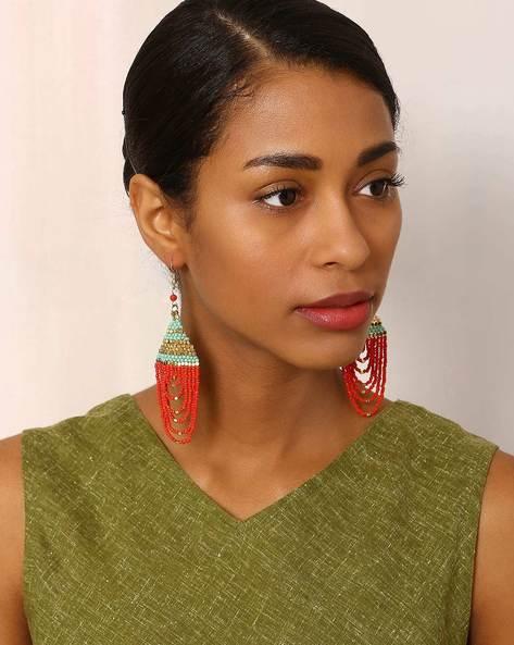 Beaded Dangler Earrings By Indie Picks ( Multi ) - 460042551001