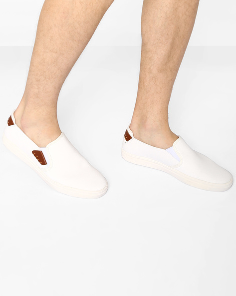 Slip-On Sneakers With Contrast Panels By Nuboy ( White )