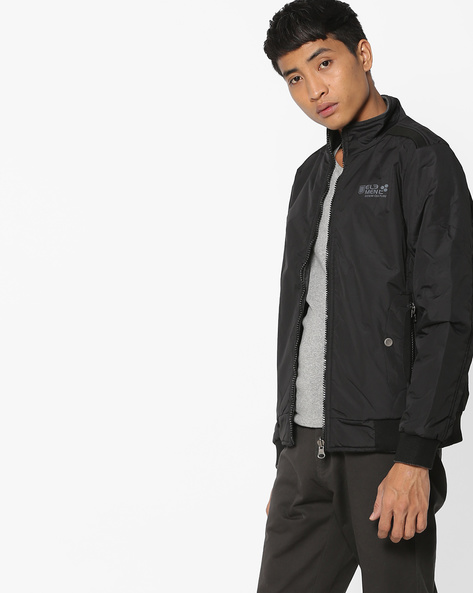 Front-Zipper Jacket With Ribbed HemsFront-Zipper Jacket With Ribbed Hems By Fort Collins ( Black )