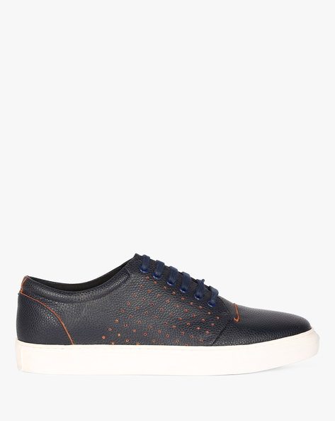 Low-Top Sneakers With Perforated Upper By Funk ( Navy )