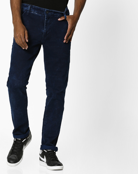 Mid-Rise Jeans With 4-pockets By UNITED COLORS OF BENETTON ( Darkblue )