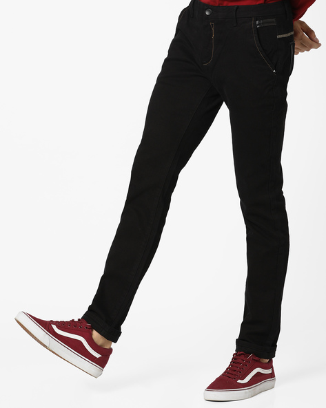Slim Fit Mid-Rise Jeans By RexStraut JEANS ( Navy )