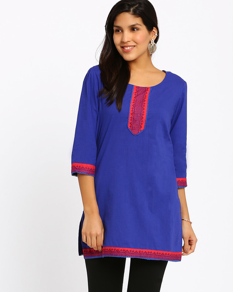 Cotton Kurti By Rangriti ( Blue )