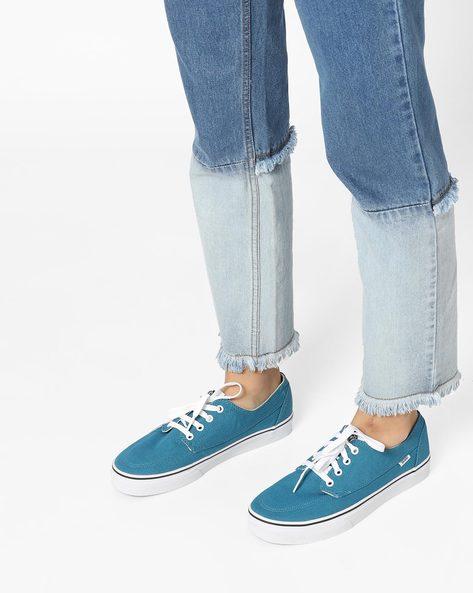 Brigata Lace-Up Canvas Shoes By Vans ( White )