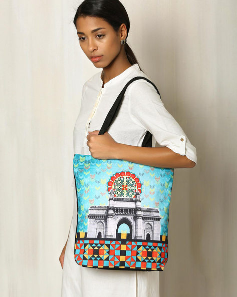 Digital Print Hand Bag By All Things Sundar ( Multi )