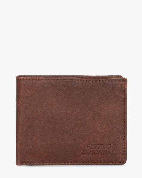 Genuine Leather Bi-Fold Wallets By FLYING MACHINE ( Brown )