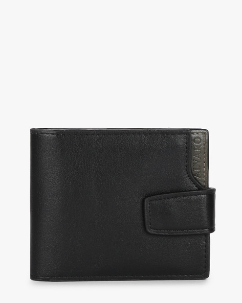 Alvaro Genuine Leather Bi-Fold Wallet By ALVARO CASTAGNINO ( Black )