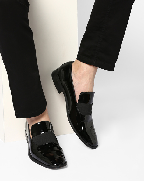 Low-Cut N9-Treated Venetian Loafers By AJIO ( Black )