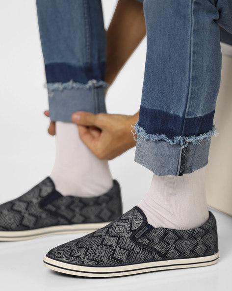 Tribal Print Slip-On Shoes By Jack & Jones ( Black )