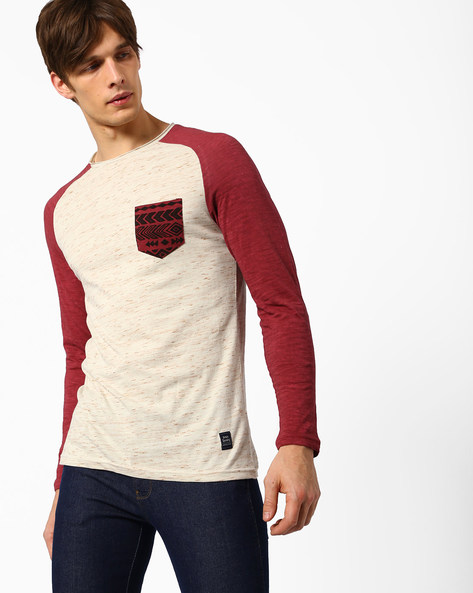 Crew-Neck T-shirt With Slub Effect By DNMX ( Maroonburg )