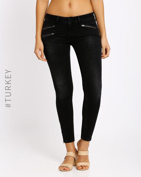 Skinny Fit Jeans By Cross Jeans ( Black )