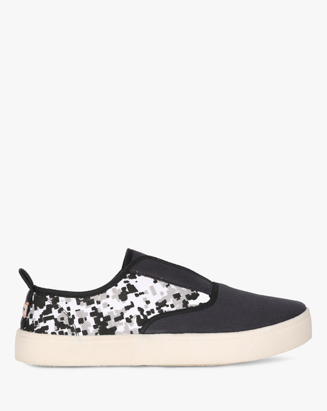 Printed Slip-On Shoes By SCENTRA ( Black )