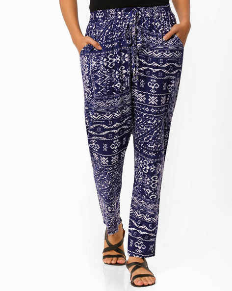Printed Pants By Oxolloxo ( Blue )
