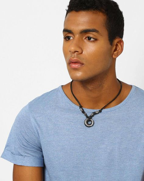 Leather Pendant Chain By UNKNOWN ( Black )