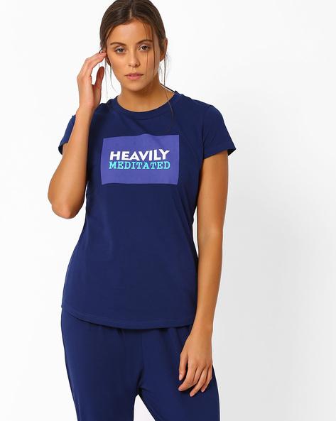 Graphic Print T-shirt By AJIO ( Navyblue ) - 460015533007