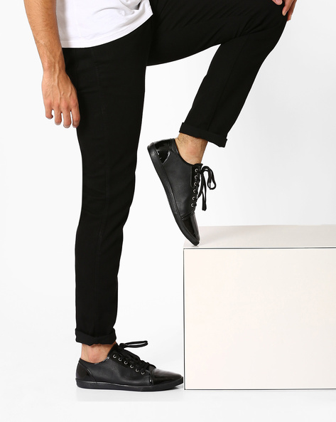 Lace-Up Casual Shoes By Funk ( Black )