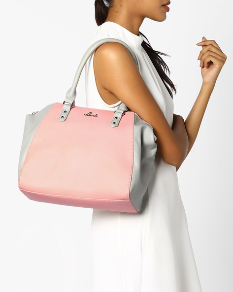 Colourblock Tote Bag By Lavie ( Pink )