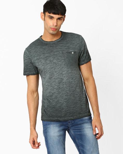 Vintage Cut & Sew T-shirt By AJIO ( Blue )