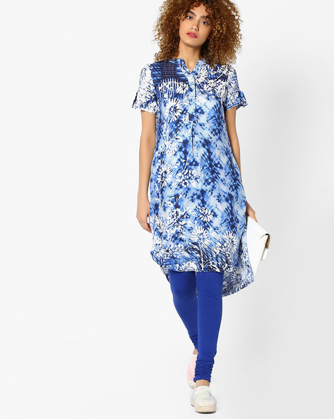 Printed Kurta With Button Placket By Global Desi ( Printed ) - 460077275001