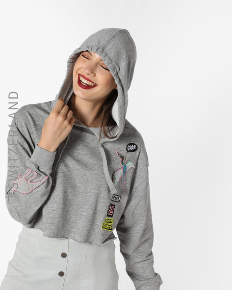 TALL WOMEN SWEATSHIRTS & HOODIE, GREY, L By TALLY WEiJL ( Grey )