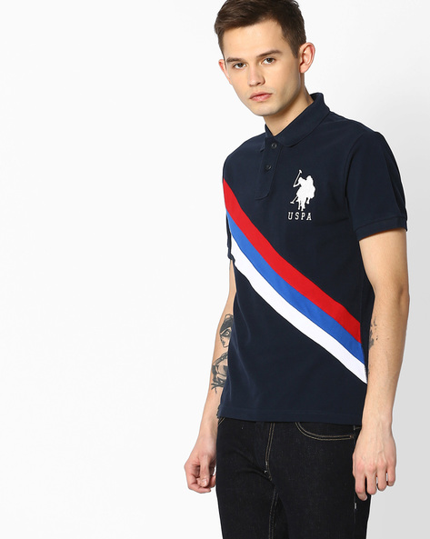 Pure Cotton Polo T-shirt By US POLO ( Assorted )