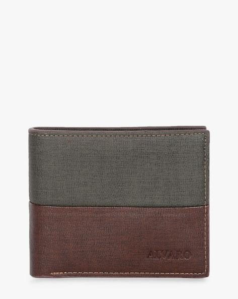 Genuine Leather Bi-fold Wallet By ALVARO CASTAGNINO ( Brown ) - 460135660001