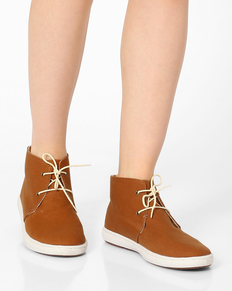 High-Top Casual Shoes By Carlton London ( Tan )