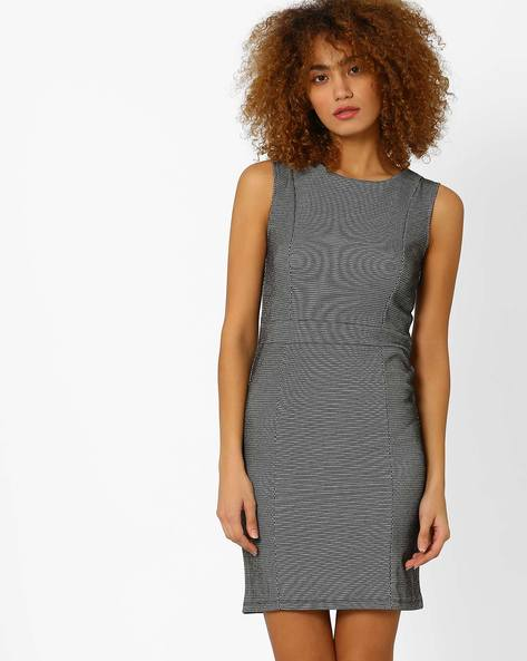 Tailored Sheath Dress By Annabelle By Pantaloons ( Black )