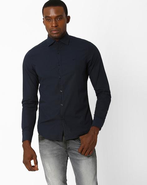 Slim Fit Poplin Casual Shirt By GAS ( 0194 )