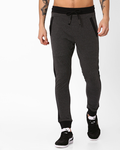 Jogger Fit Track Pants By BASICS ( Black ) - 460033687001