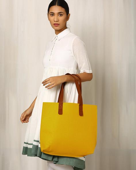 Felt Tote Bag By Indie Picks ( Yellow )