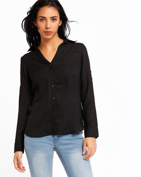 Relaxed Fit Shirt By PrettySecrets ( Black )