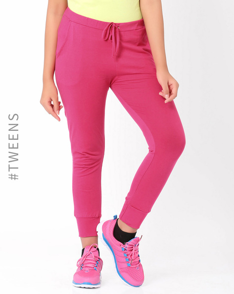 Cuffed Track Pants By AJIO Girl ( Pink )