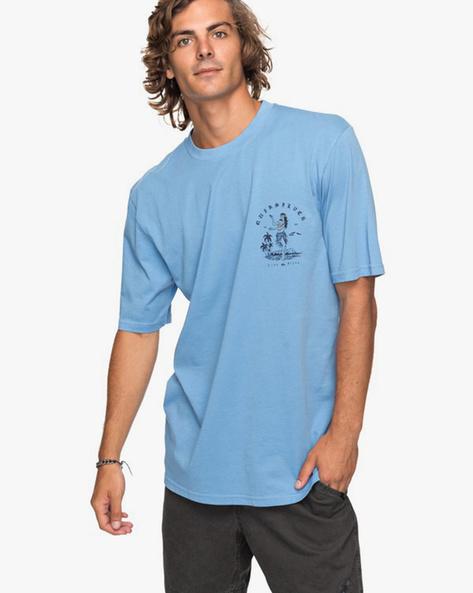 Printed Crew-Neck Longline T-shirt By QUIKSILVER ( Bjq0 )
