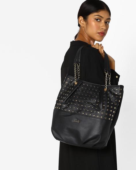 Tote Bag With Metal Rivets By Lavie ( Black )
