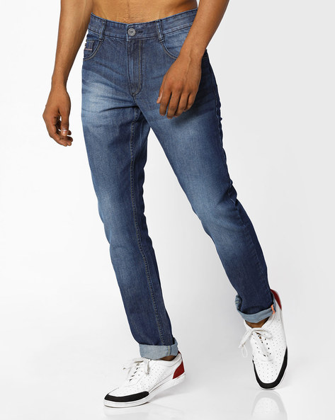 Mid-Rise Slim Fit Jeans By JOHN PLAYERS ( Blue )
