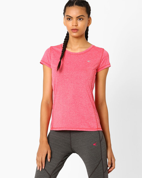 Fitness Cationic T-shirt With Quick Dry By PERFORMAX ( Pink )
