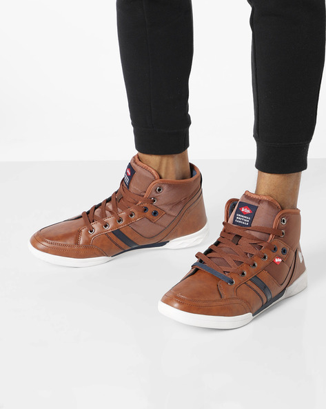 Ankle-Length Panelled Shoes By Lee Cooper ( Brown )