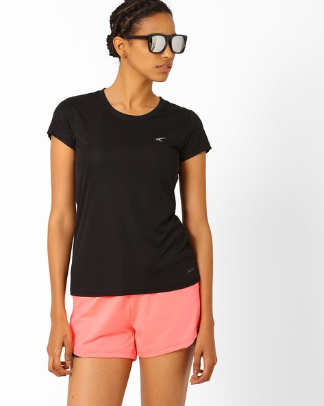 Round Neck T-shirt By PERFORMAX ( Black )